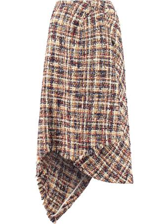 Lanvin Asymmetric Wrap Skirt