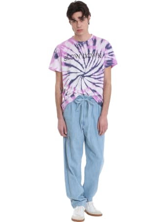 Isabel Marant Zafferh T-shirt In Viola Cotton