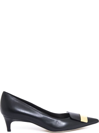 Sergio Rossi Black Nappa Pointed Pumps