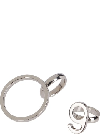 MM6 Maison Margiela Silver Brass Ear Cuffs