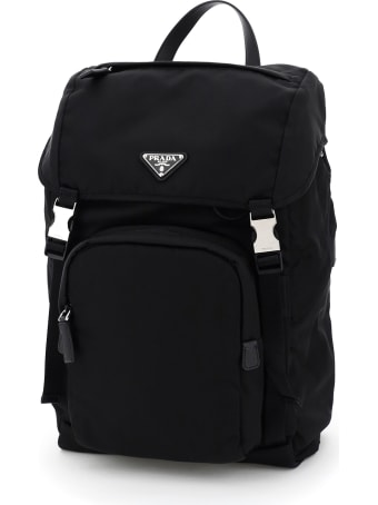 Prada Nylon And Saffiano Backpack