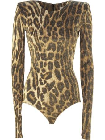 Alexandre Vauthier Leopard Print Bodysuit
