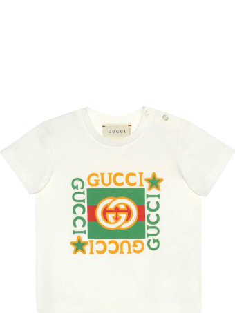 Gucci White T-shirt With Front Press