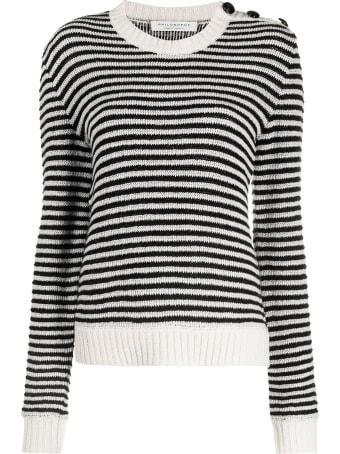 Philosophy di Lorenzo Serafini Black And White Cashmere-wool Blend Jumper