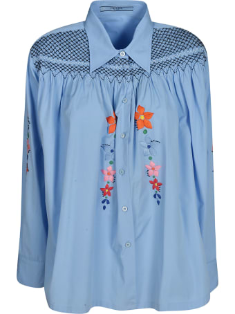 Prada Floral Embroidered Shirt