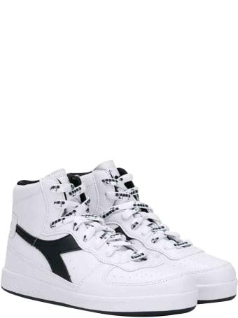 Diadora Diadora White Junior High Teen Sneakers