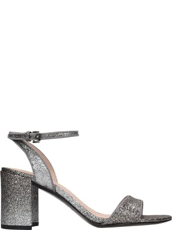 Ash Jet 01 Sandals In Silver Leather