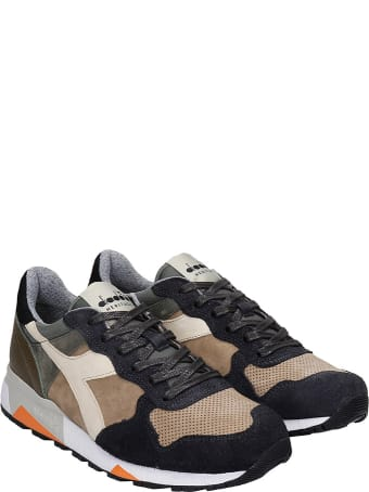 Diadora Trident 90 Sneakers In Beige Suede And Leather