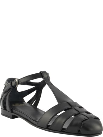 Church's Rainbow Shine Calf Leather T-bar Sandal Black