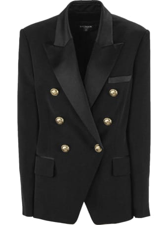 Balmain Black Double-breasted Jacket
