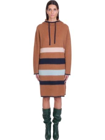 Lanvin Dress In Brown Wool