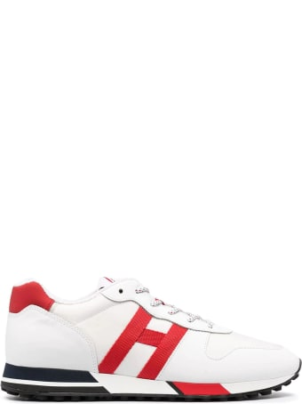Hogan White, Red H383 Sneakers