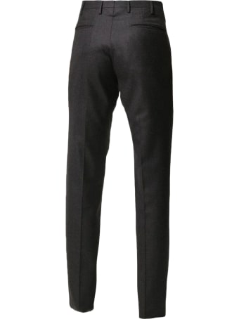 Incotex Grey Wool Trousers