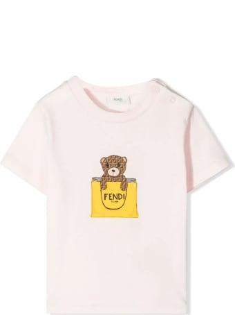 Fendi Pink Cotton-blend T-shirt