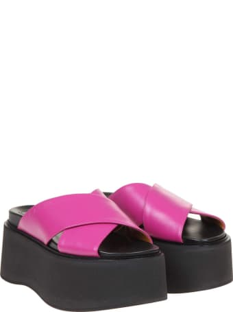 Marni Sandals In Leather With Platform
