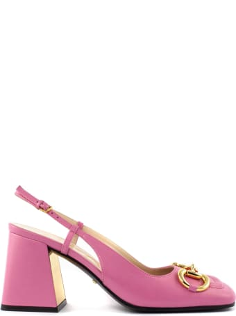 Gucci Pink Leather Slingback