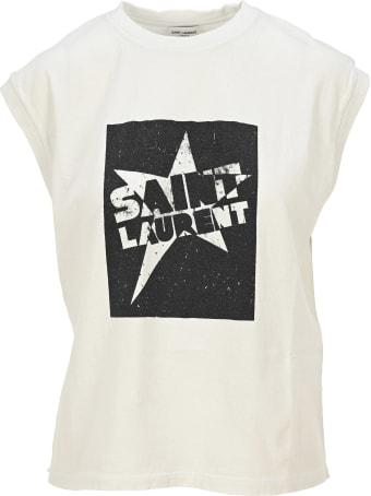 Saint Laurent Saint Laurent Star Print Tank Top
