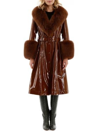 Saks Potts Foxy Glossy Leather Coat