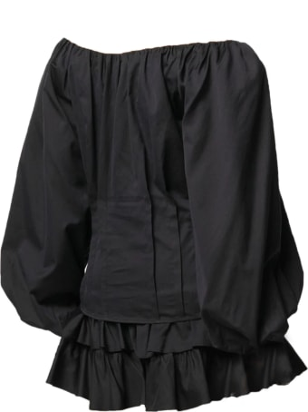 Federica Tosi Black Silk And Cotton Blouse