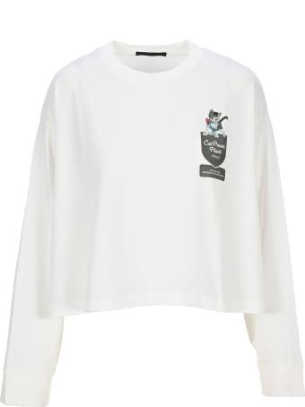 Undercover Jun Takahashi Undercover Cat Print Cropped Fleece