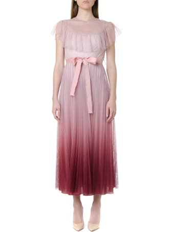 RED Valentino Degradé Effect Tulle Lace Dress