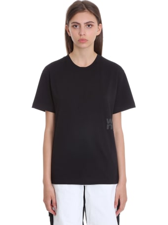 T by Alexander Wang Foundation Jsy T-shirt In Black Cotton