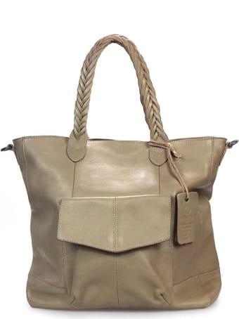 Rehard Metallic Beige Shopping Bag