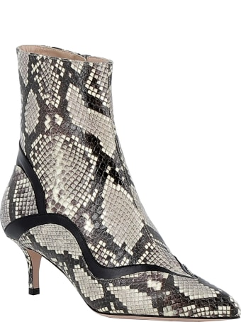 Paula Cademartori Blanc Leather Ankle Boots