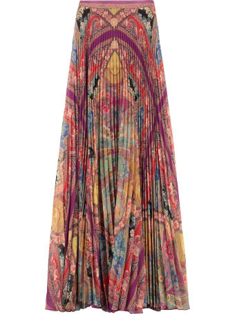 Etro Printed Pleated Maxi-skirt