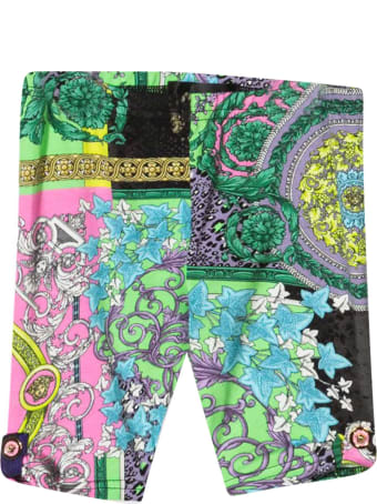 Versace Multicolor Print Leggings
