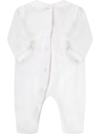 Blumarine White Babygrow For Babygirl With Logo