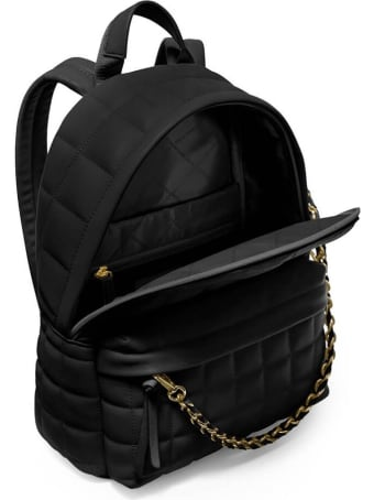 Michael Kors Slater Black Quilted Medium Backpack