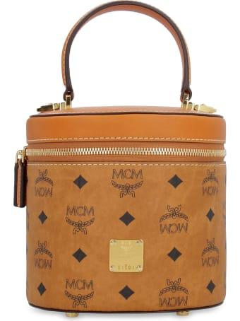 MCM Visetos Leather Bucket Bag