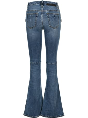 Ben Taverniti Unravel Project Unravel Lace-up Flared Jeans