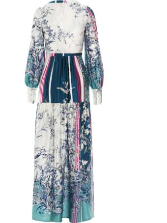 Black Coral 'sylvie Teal Flowers' Dress