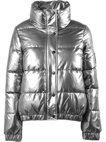 DKNY Silver-tone Puffer Jacket