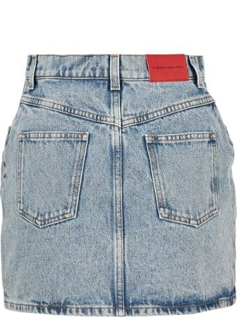 Alessandra Rich Embellished Denim Mini Skirt