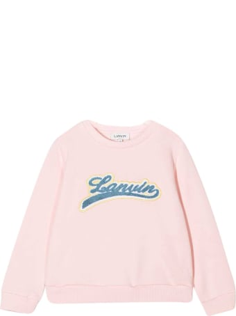 Lanvin Pink Sweatshirt Teen Kids