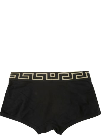 Versace Fitted Logo Boxer Shorts