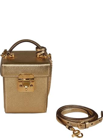 Mark Cross Metallic Box Shoulder Bag