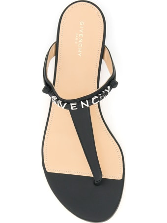 Givenchy Thong Mules Lettering