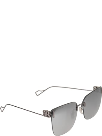 Balenciaga Grey Woman Square Sunglasses