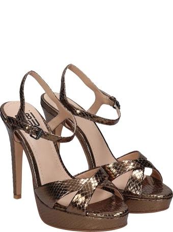 Bibi Lou Sandals In Bronze Leather