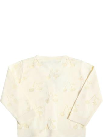 Bonpoint Yellow Cardigan For Babygirl