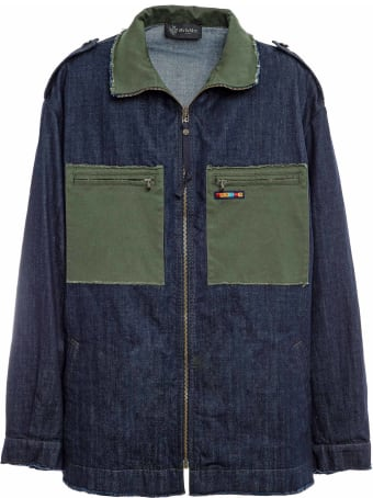 Mr & Mrs Italy Denim And Cottoncavalry Work Jacket For Man