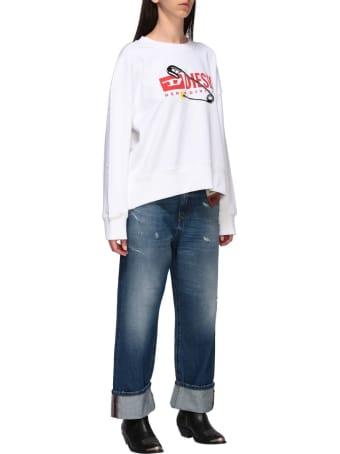 Diesel Sweatshirt Diesel Crew Neck Sweatshirt With Logo Print