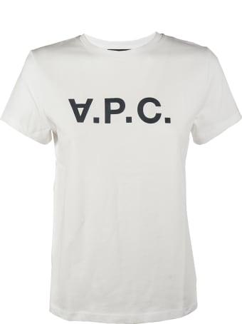 A.P.C. T-shirt Blanc Vpc F