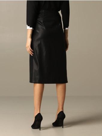 Armani Collezioni Armani Exchange Skirt Armani Exchange Midi Skirt In Synthetic Leather