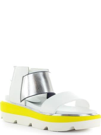 Jeannot White Silver Platform Sandal