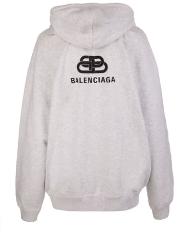 Balenciaga Light Grey Hoodie With Back Logo